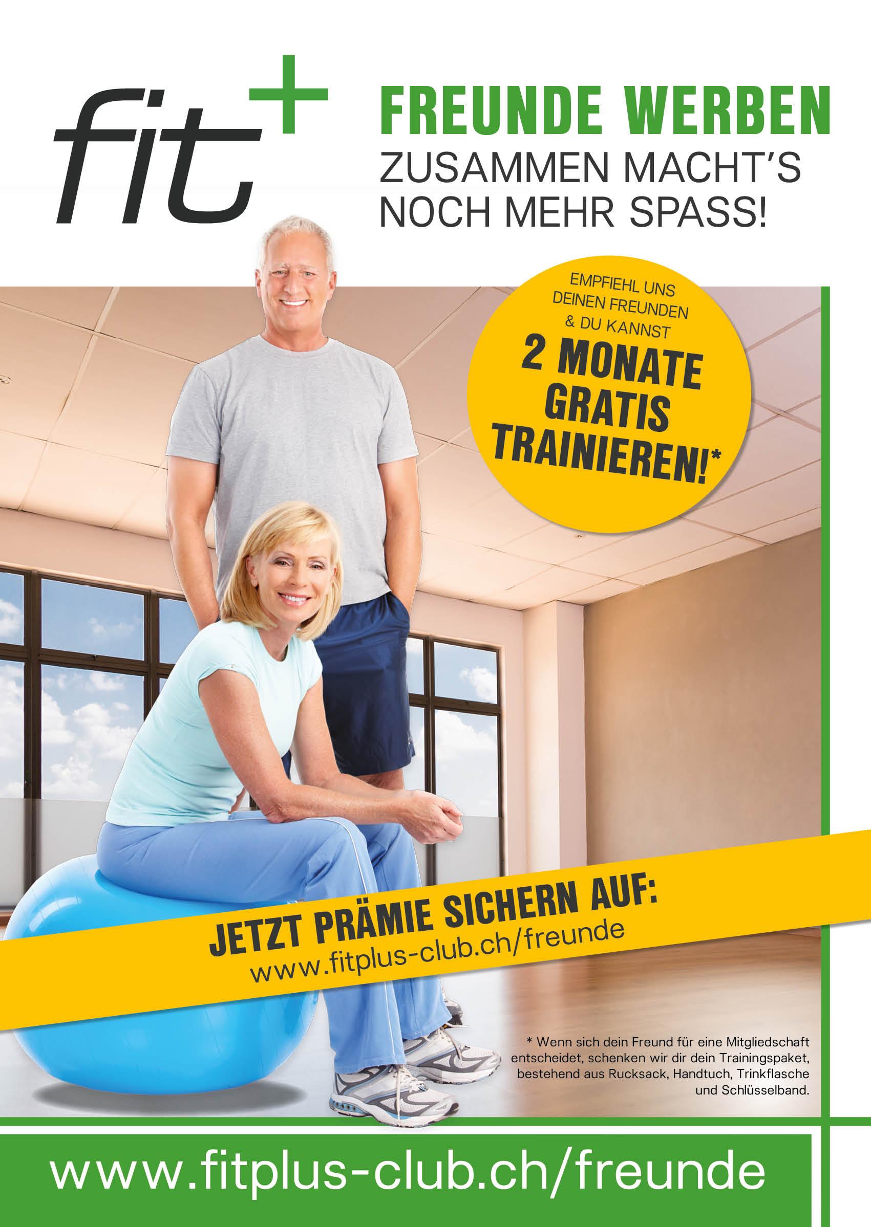 online_RZ_fit+ Freunde werben_Plakat_2 Monate_A1_ch